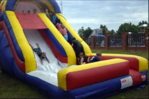We have inflatable slides and more.